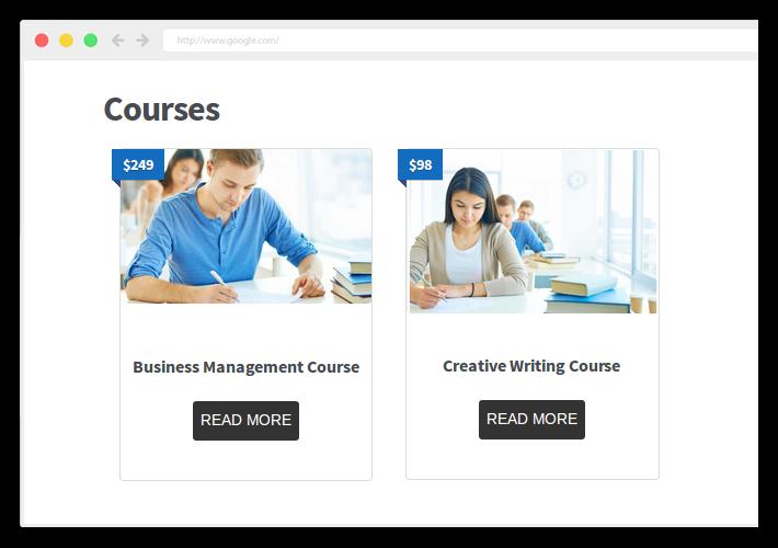 WP cursus aankoop pagina