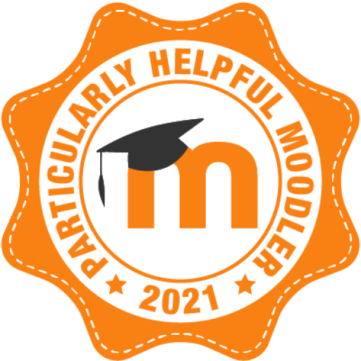 Badge Particularly Helpful Moodler 2021