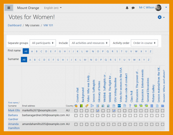 Moodle 3.11 Activiteitenrapport